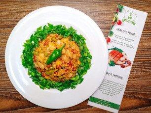 Mix Vegetable Tikka Karahi With Wrap